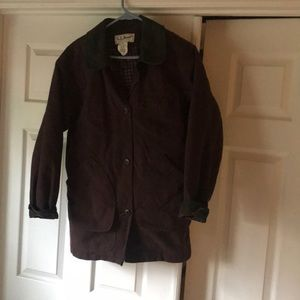 Women's Small LL Bean Brown Barn Coat Lined